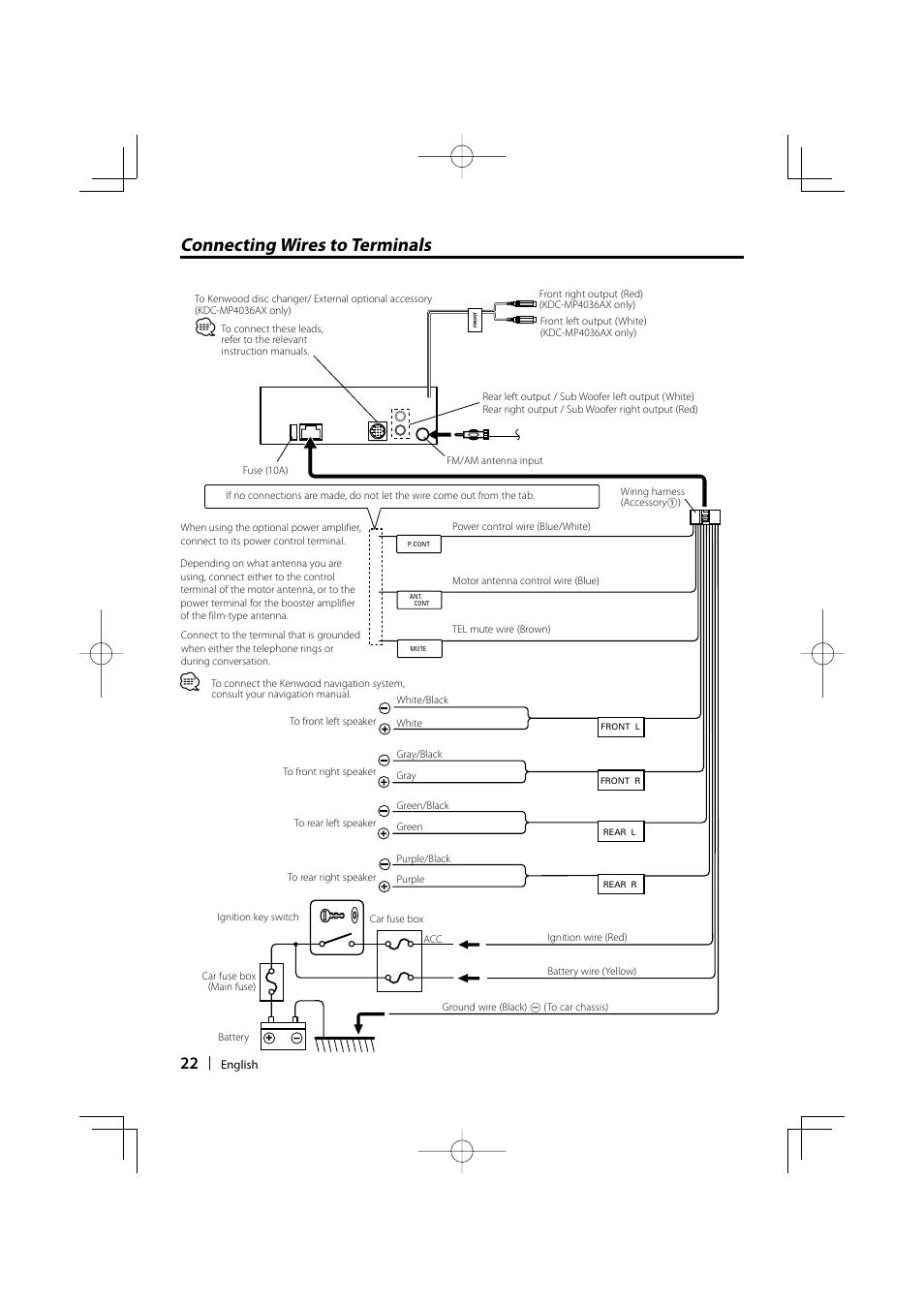 kenwood model kdc mp4028 wiring diagram