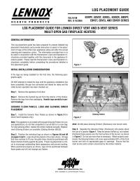 Lennox Gas Fireplace Log Placement - Fireplace Ideas