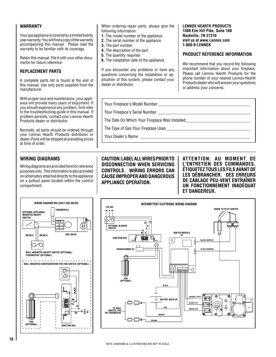 wiring diagram for lennox 89n18
