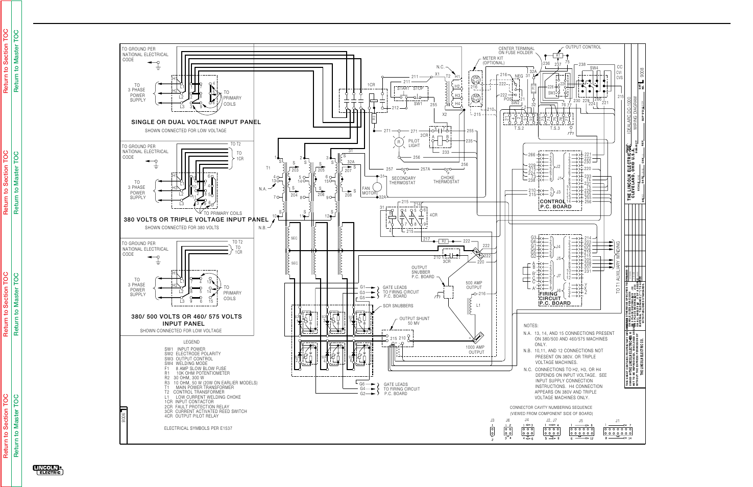 lincoln dc 1000 wiring diagram