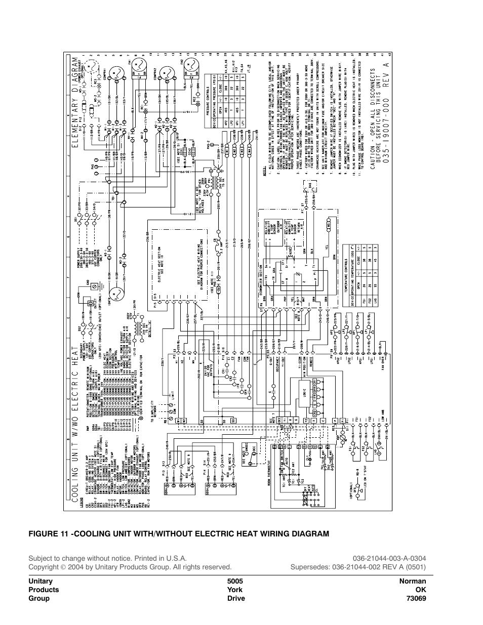 york rtu schematic