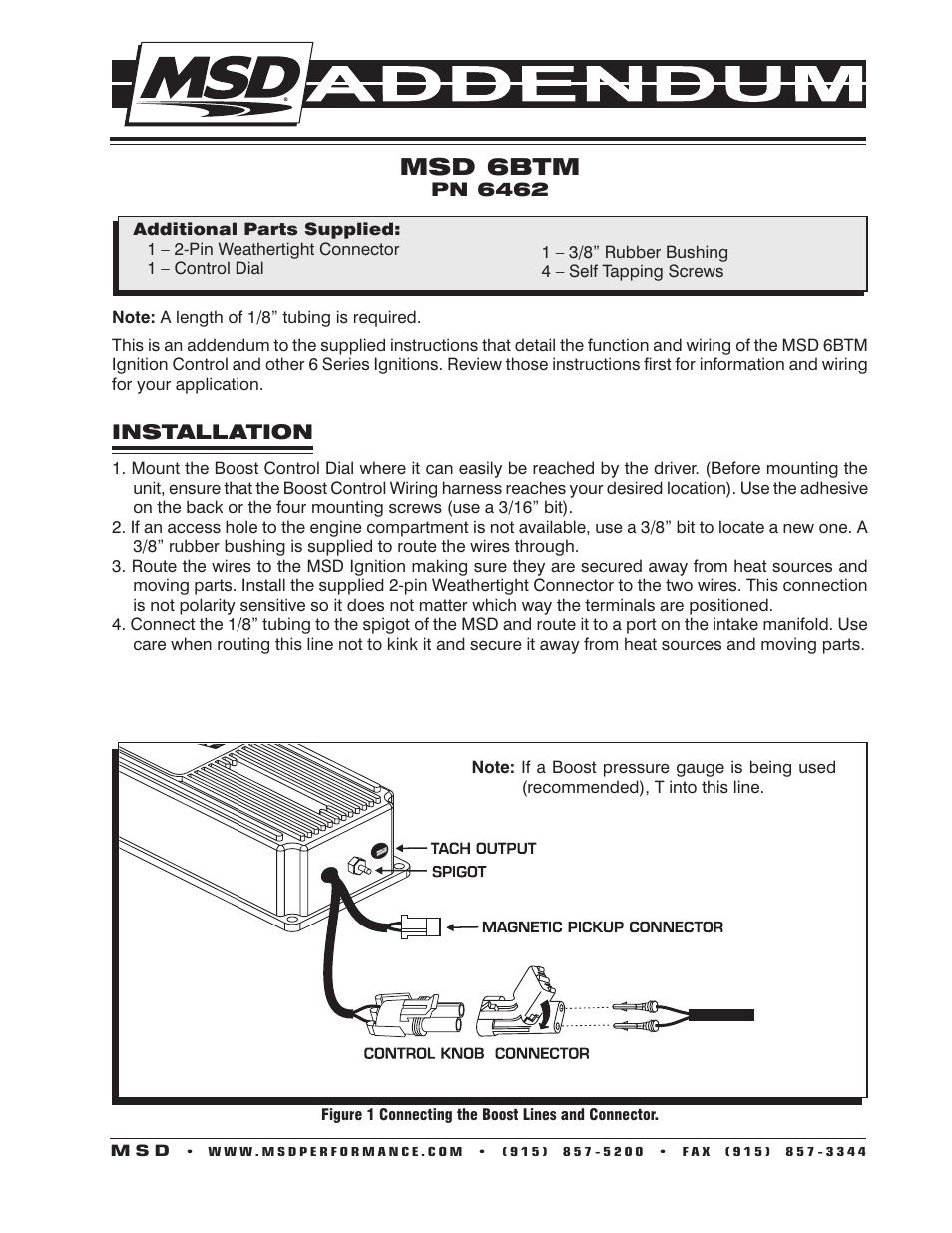 wiring diagram msd 6462
