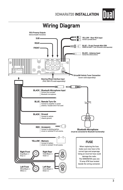 dual xd5250 car radio wiring diagram