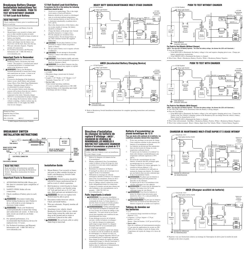 tekonsha wiring diagram charger
