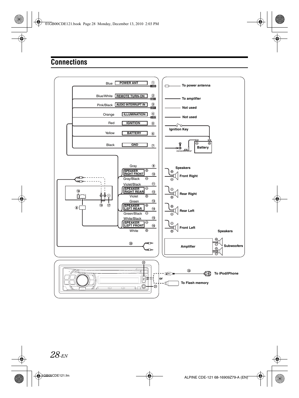 alpine cde 102 wire schematic
