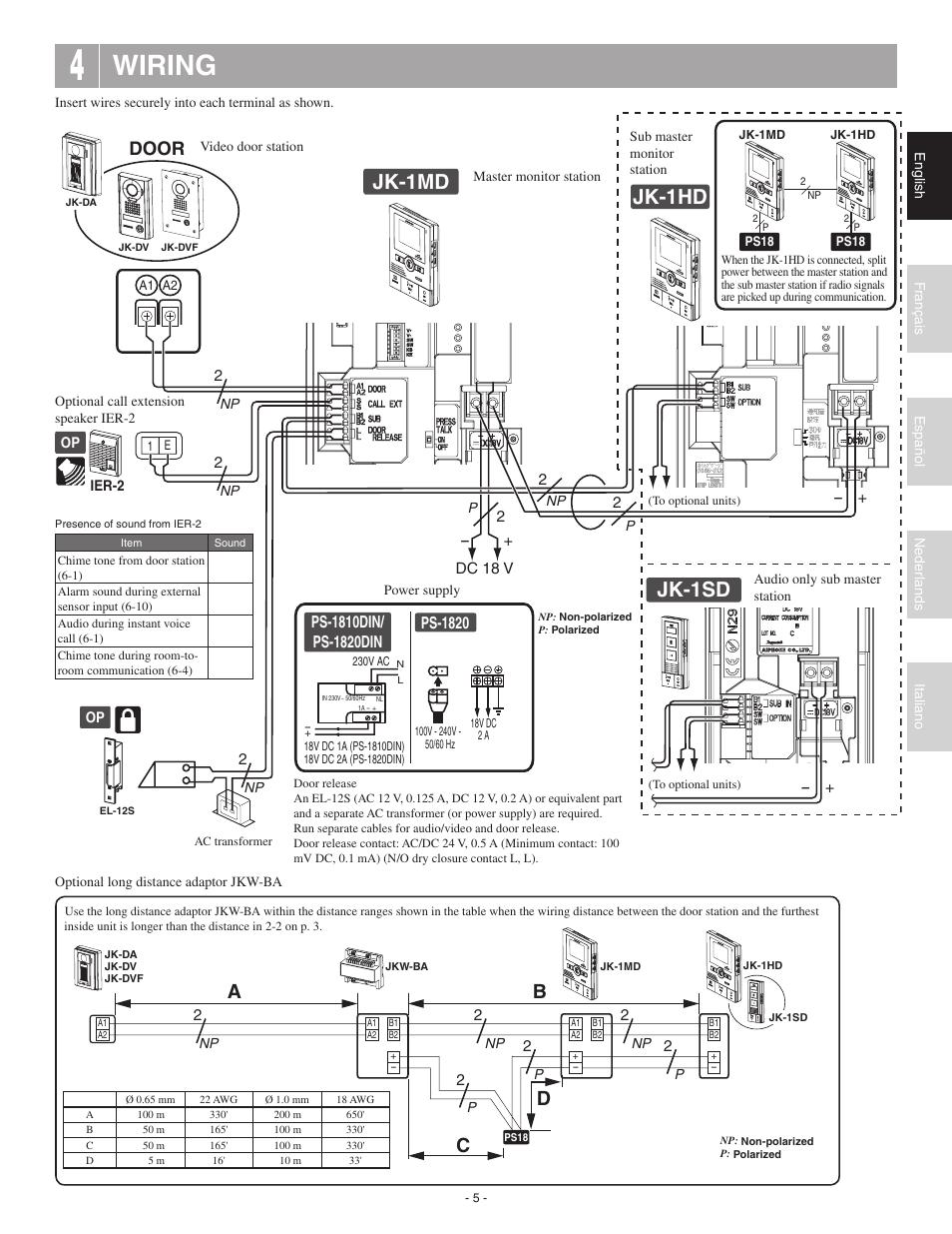 aiphone ix da wiring diagrams