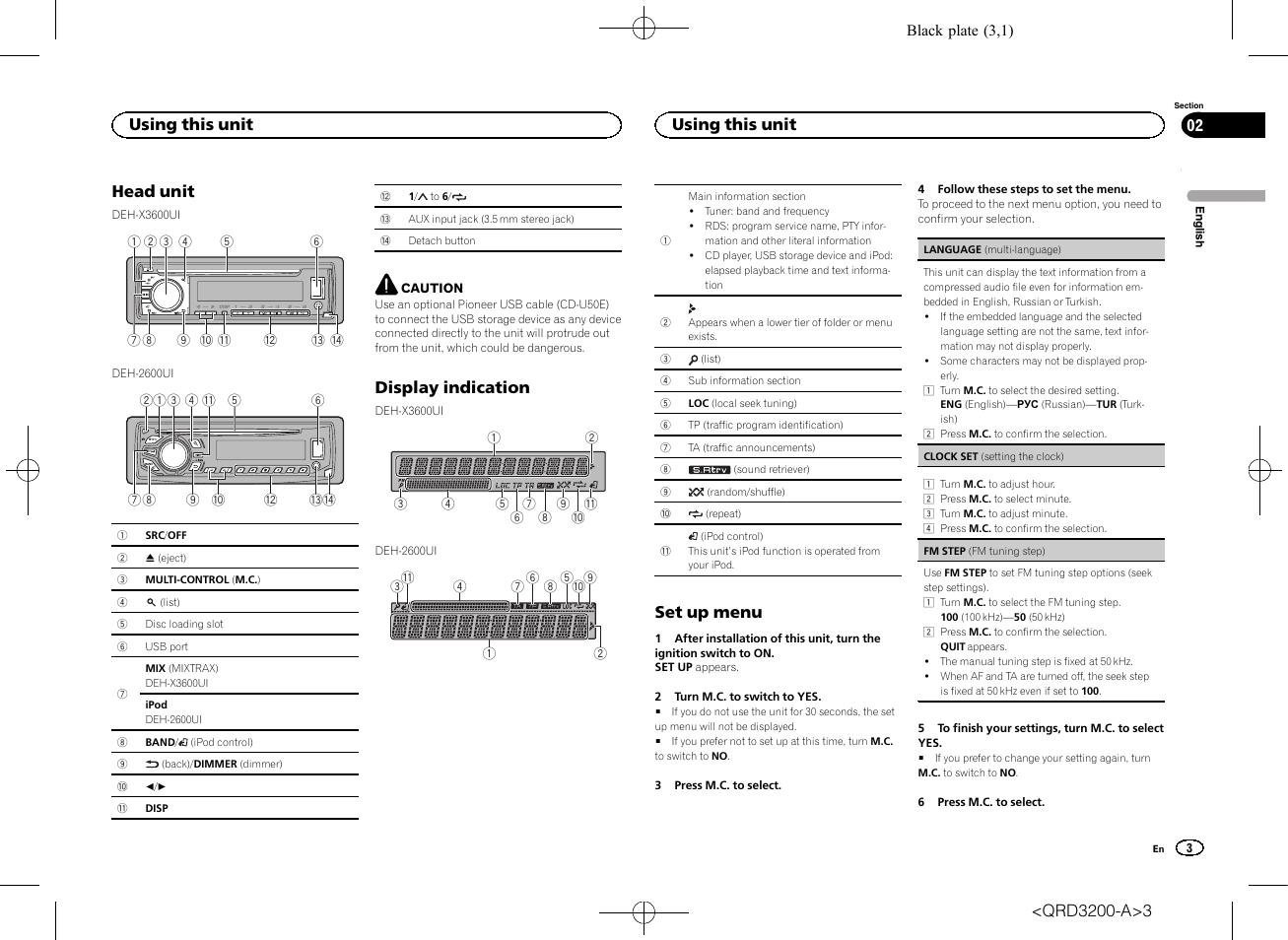pioneer deh x3600ui Schaltplang