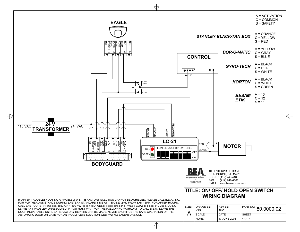 bea wiring diagrams