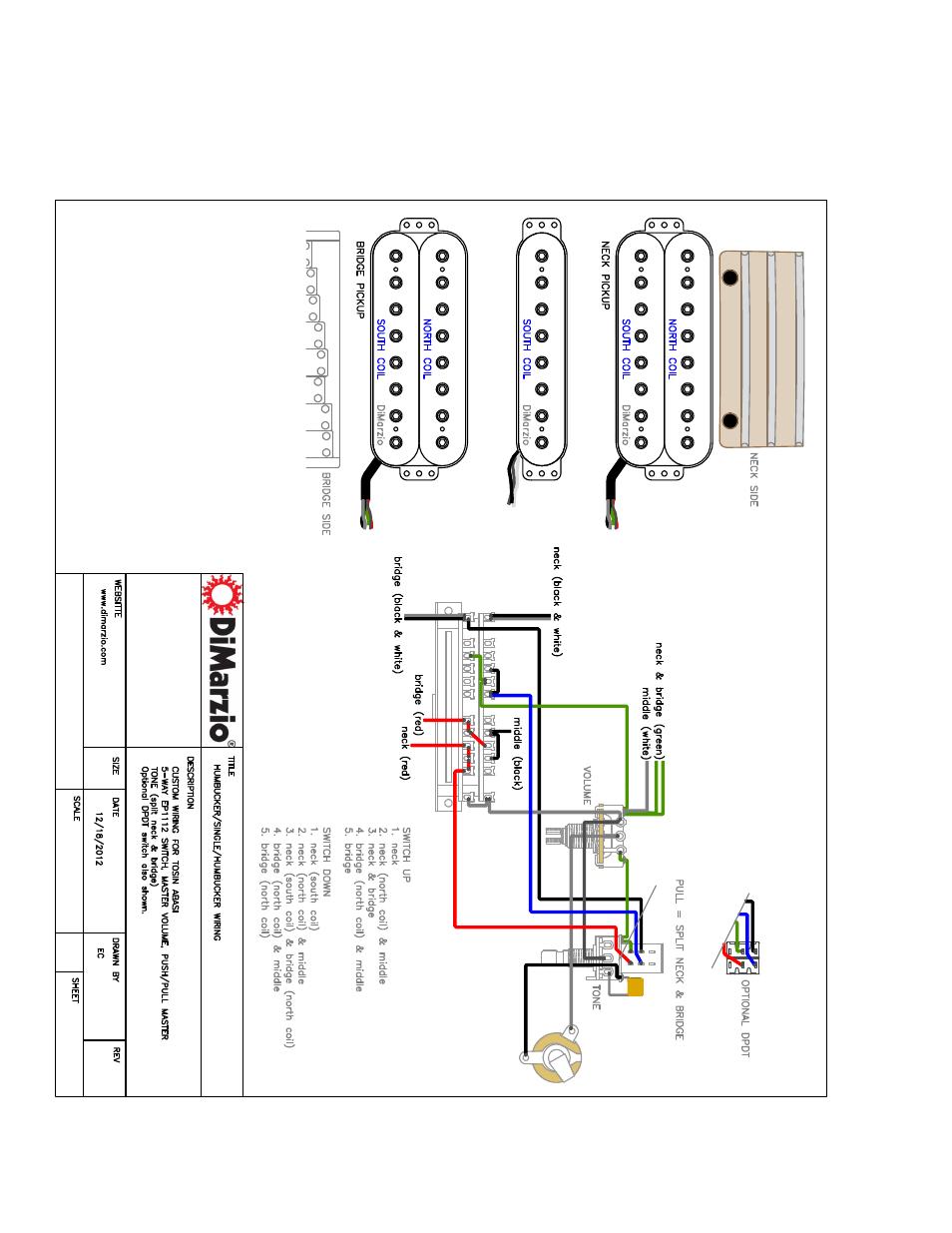 dimarzio evolution wiring diagram sg