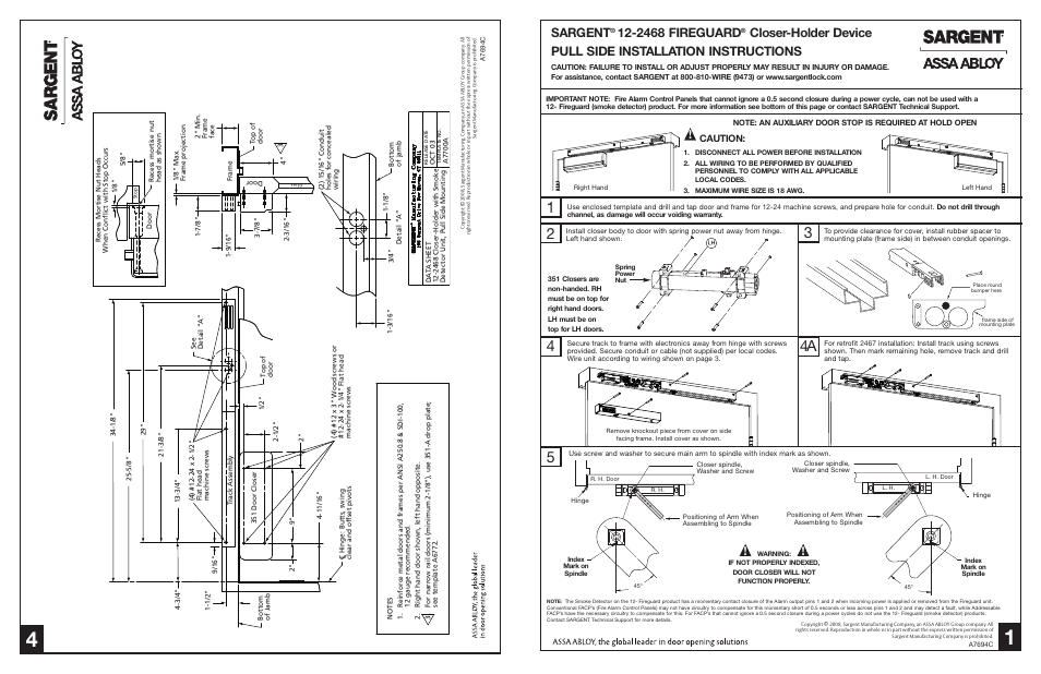 sargent ec600 wiring diagram