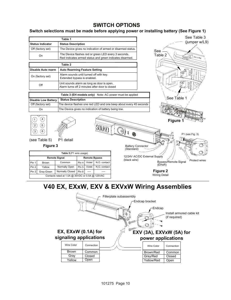 detex wiring diagrams