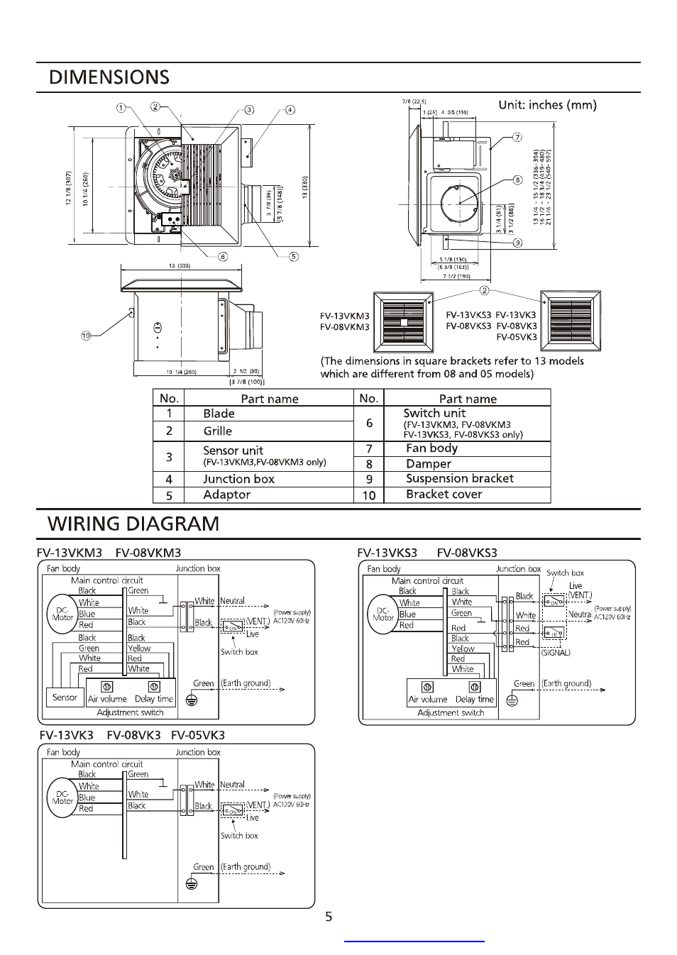 panasonic fv 08vks3 wiring diagram