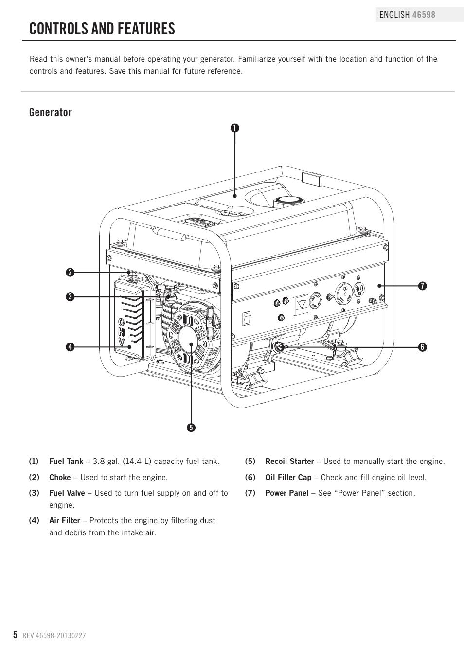 champion generator fuel filter location