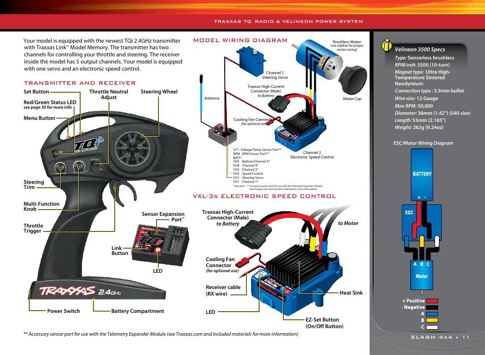 traxxas servo wiring diagram