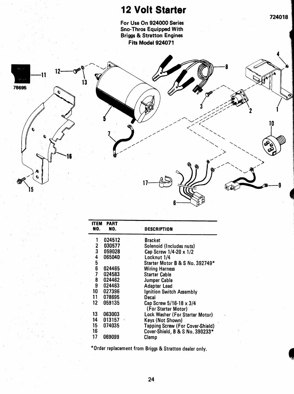 12 volt starter motor ledningsdiagram