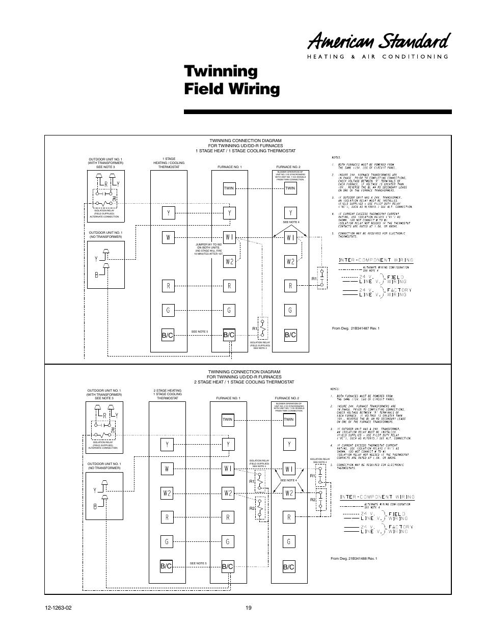 Twin Furnace Wiring Diagram Auto Electrical Twinning Furnaces