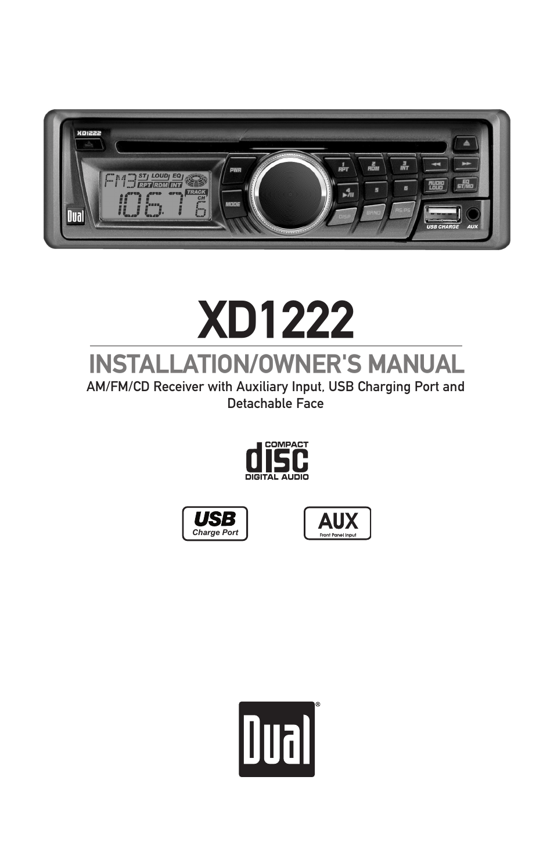 dual radio xd1222 wiring diagram