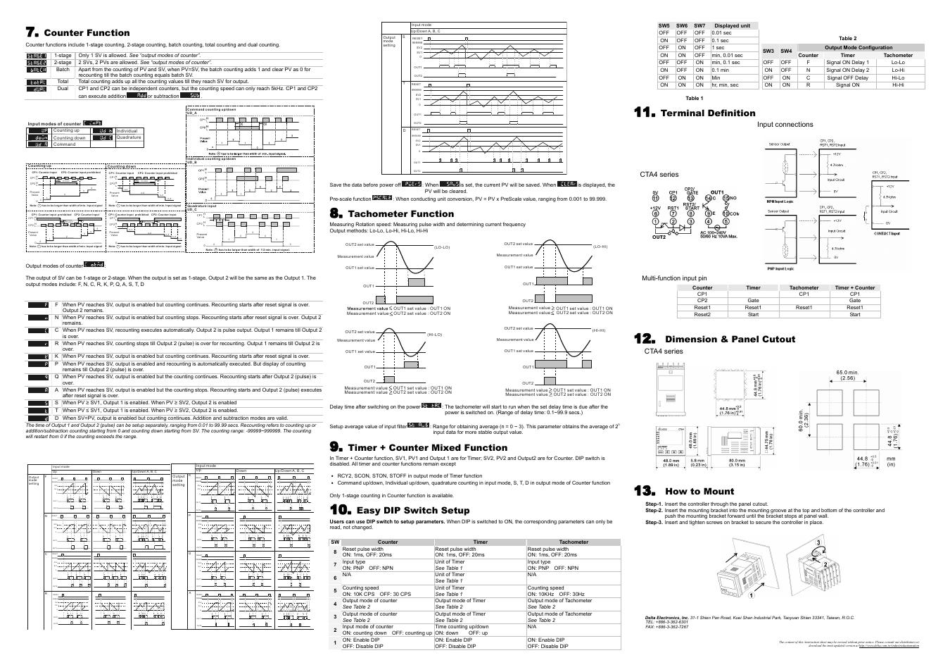 delta tachometer wiring