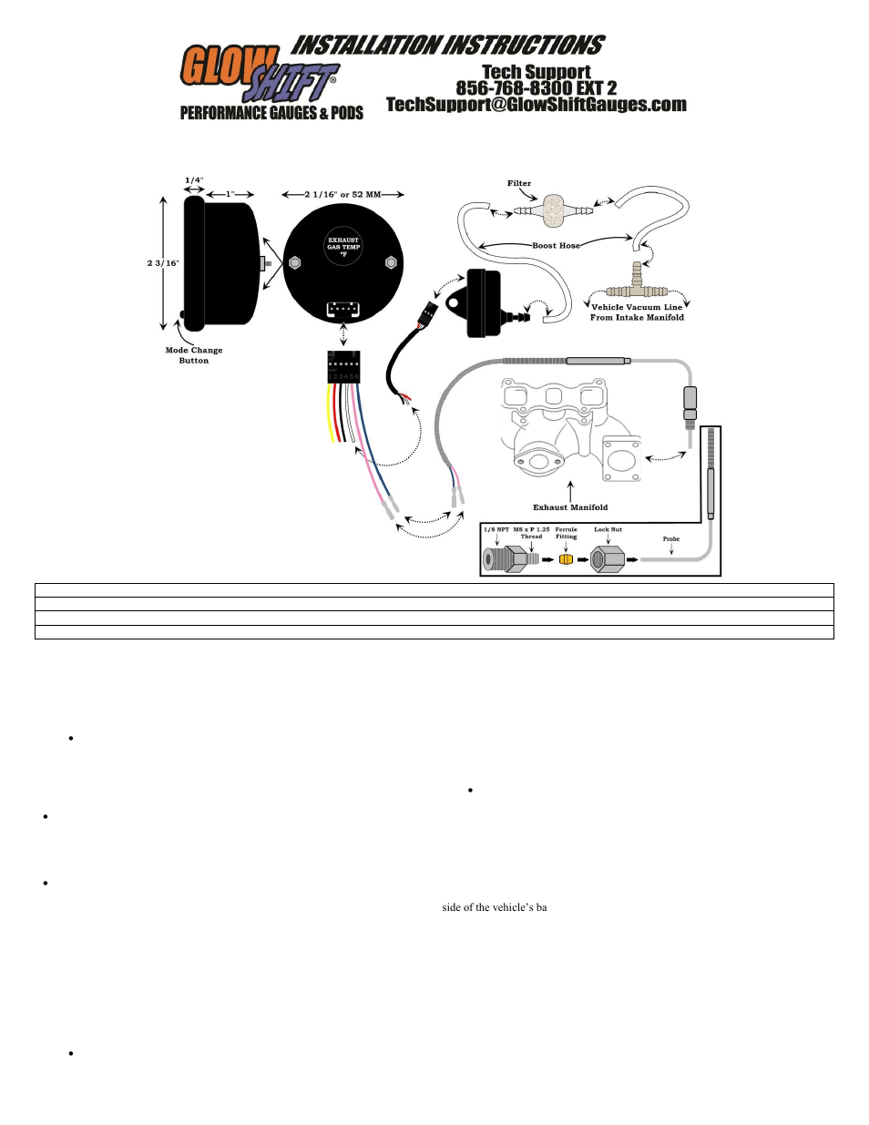 glowshift egt gauge wiring diagram