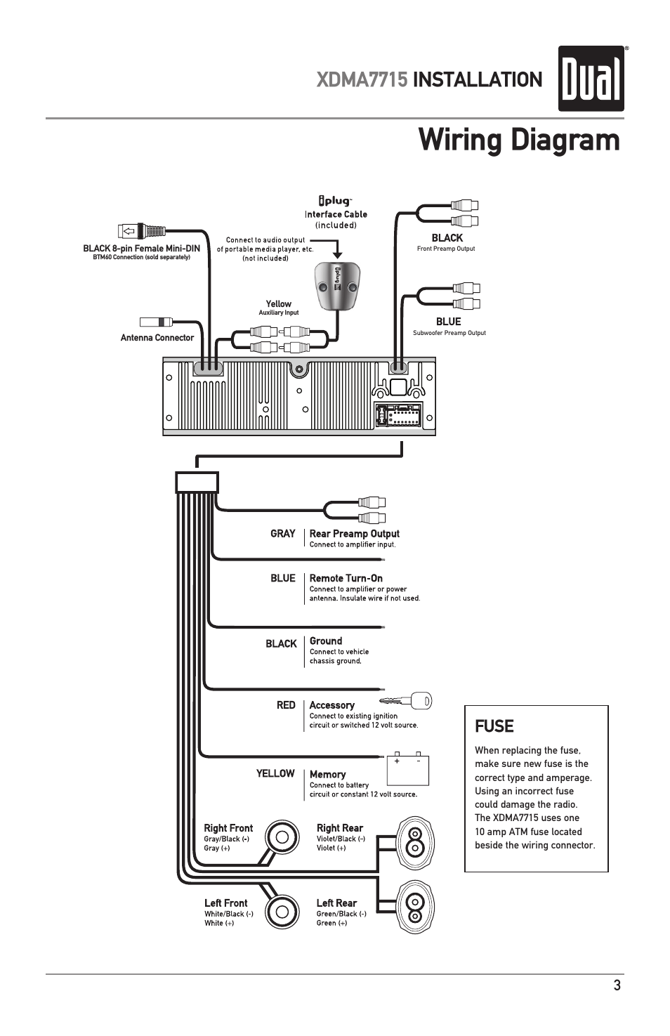 4 pin radio wiring diagram