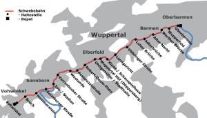 Wuppertal metro map plan 4