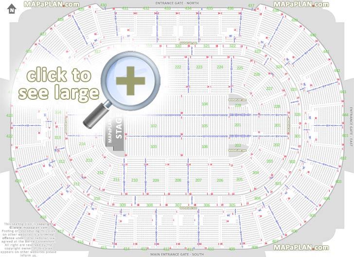 Honda Center seat  row numbers detailed seating chart, Anaheim