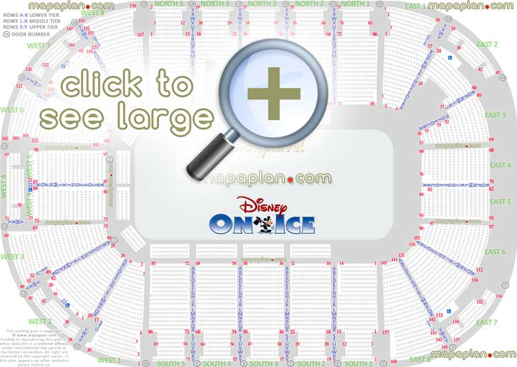 Odyssey Sse Arena Seat Row Numbers Detailed Seating
