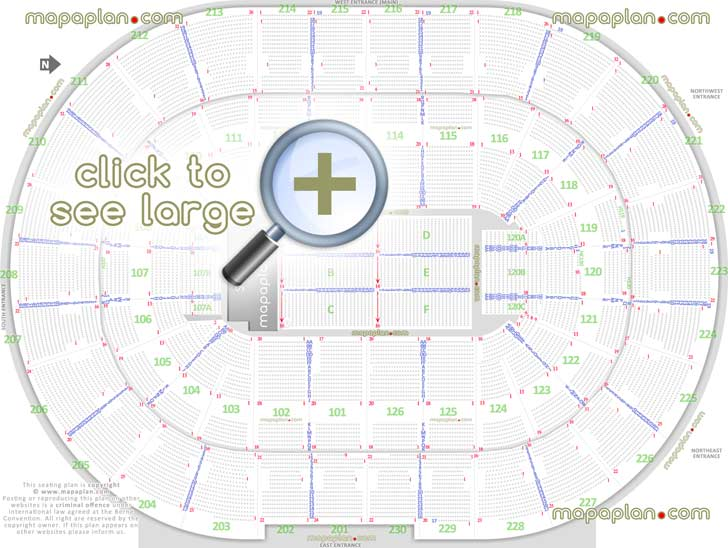 Palace of Auburn Hills seat  row numbers detailed seating chart