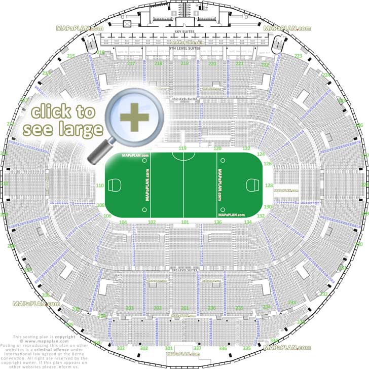 Rexall Place Edmonton seat numbers detailed seating plan - MapaPlan