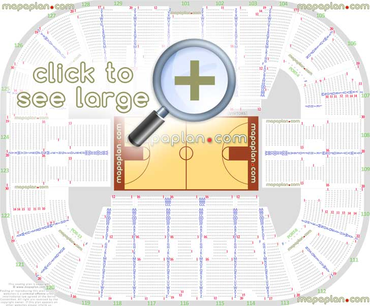 EagleBank Arena seat  row numbers detailed seating chart, Fairfax