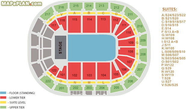 Manchester Arena Seating Plan Detailed Seat Numbers