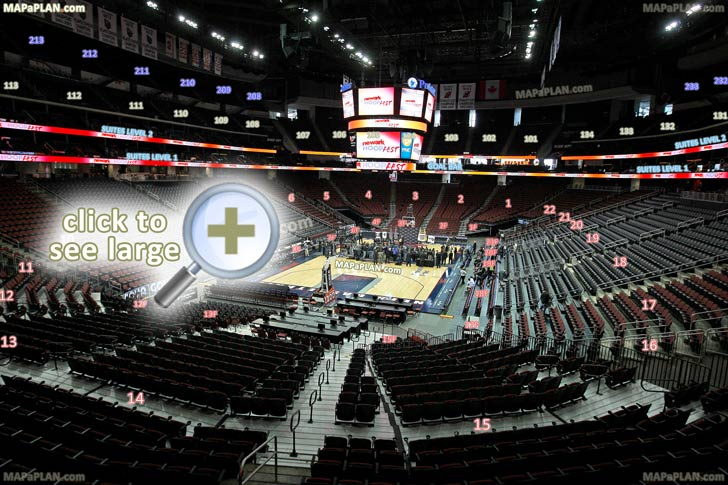 Prudential Center Newark arena seat and row numbers detailed seating