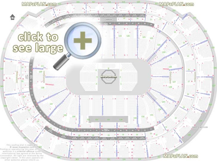 BBT Center seat  row numbers detailed seating chart, Sunrise