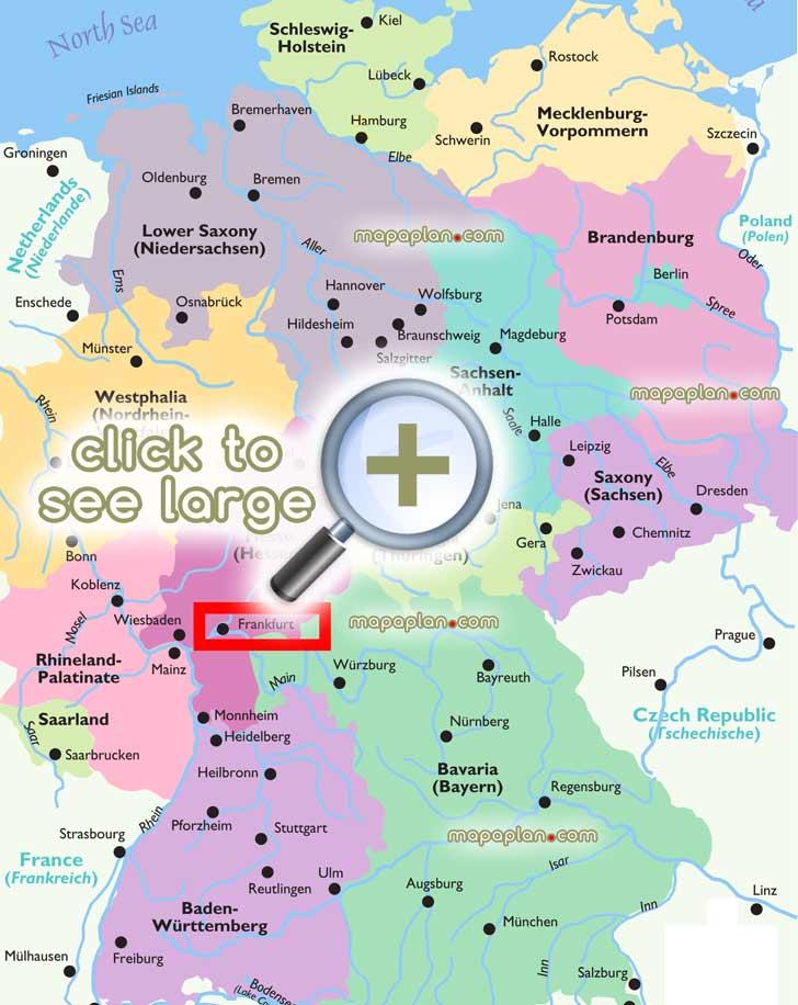Tourist map germany