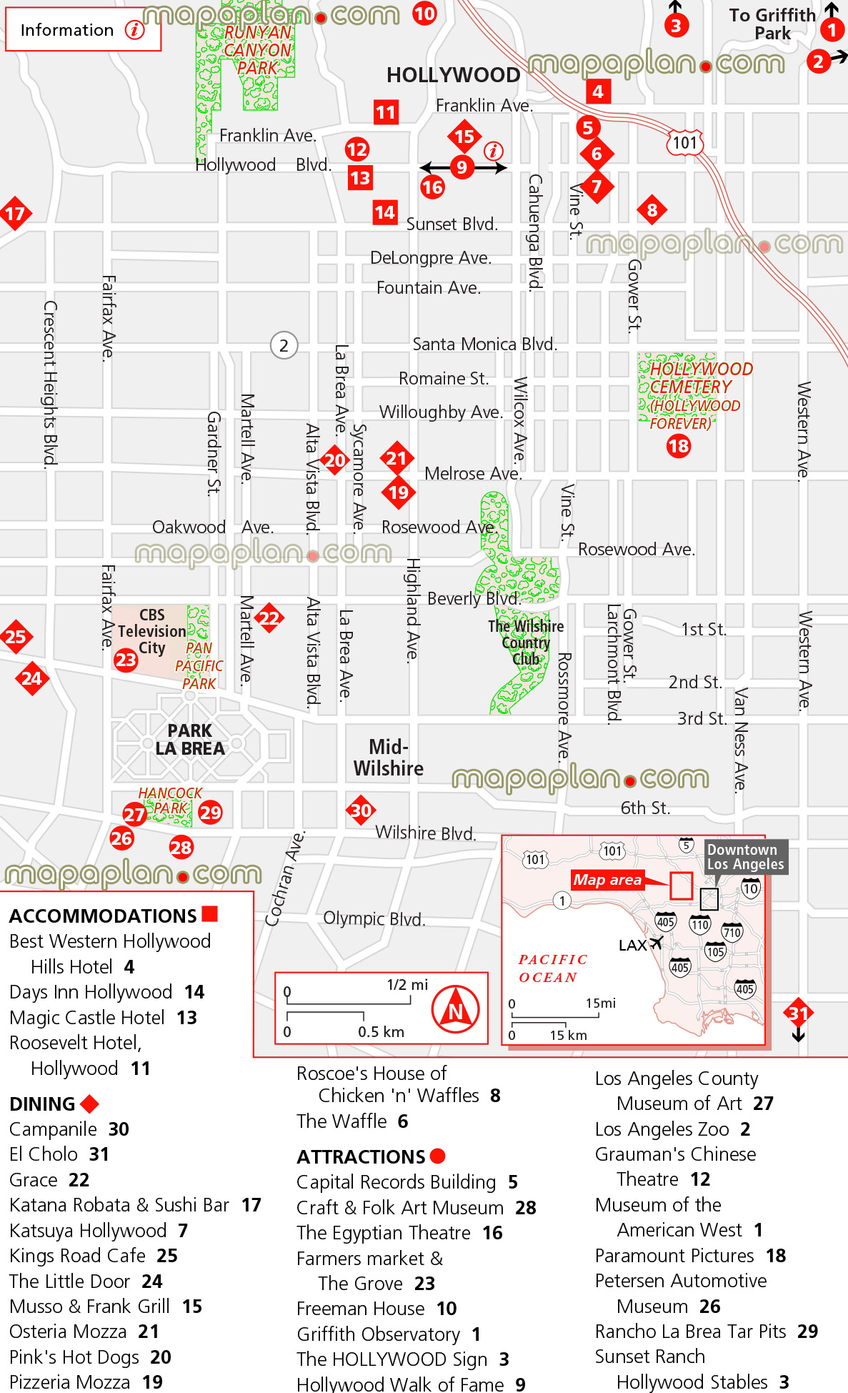 Map Of Downtown Los Angeles Little Tokyo Detail Map Normal View - Los angeles road map download