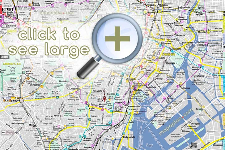 Tokyo maps - Top tourist attractions - Free, printable city street