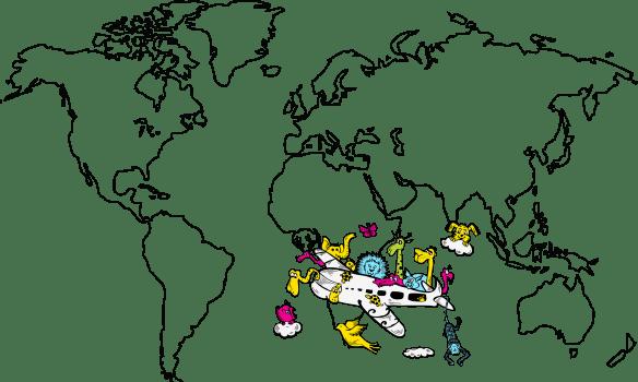 Adesivo Mapa Mundi Infantil