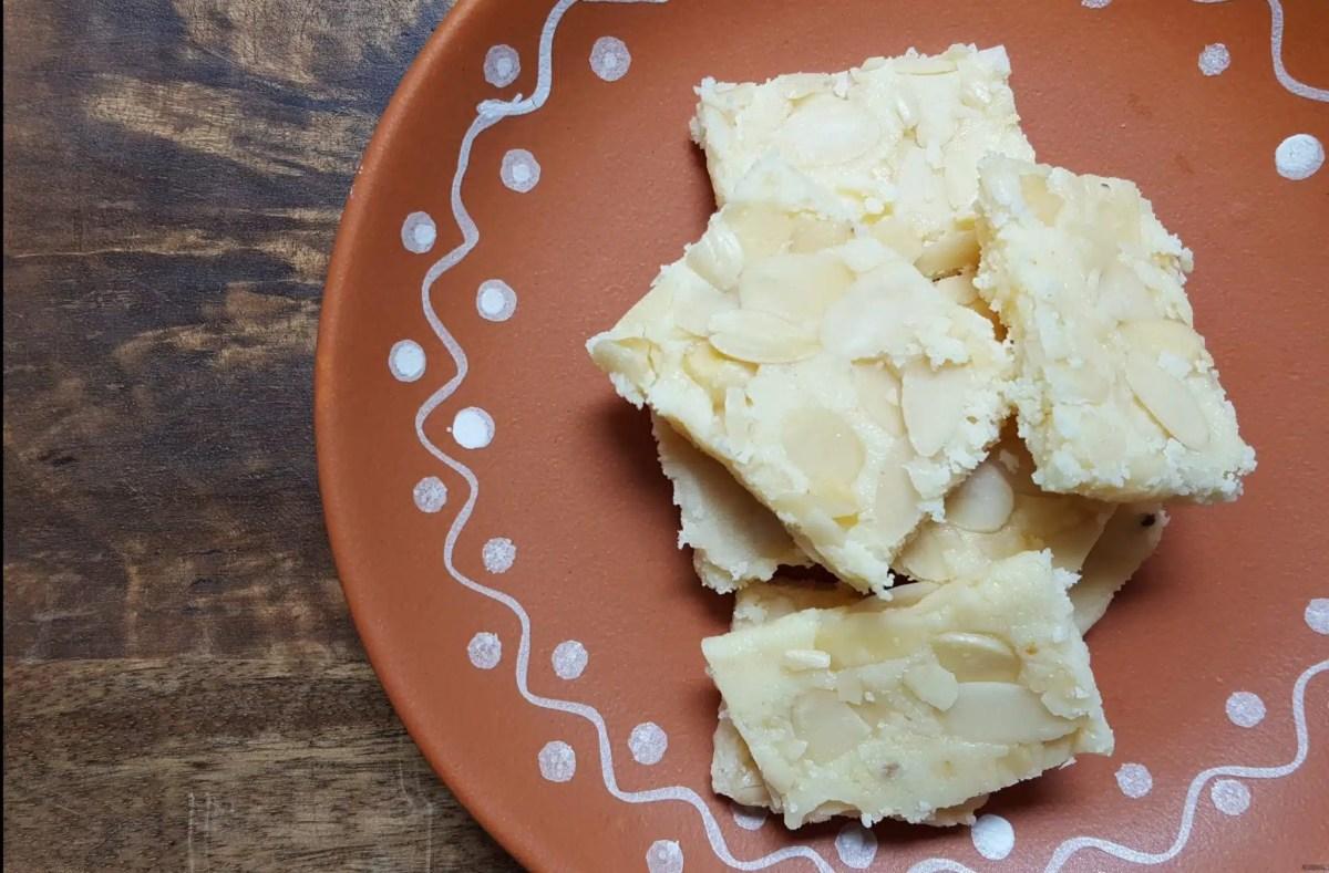 Easy Indian Dessert - Ricotta Burfi {Ricotta Almond Fudge}