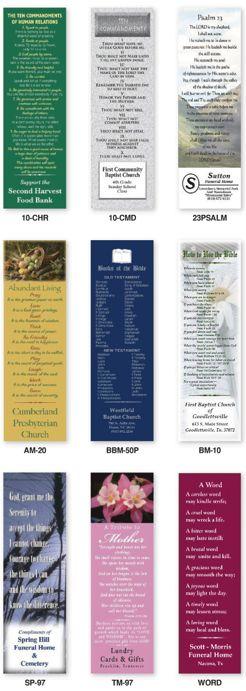 Custom Religious Bookmarks Personalized in Bulk Promotional