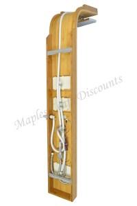 Bamboo Wood Shower Massage Panel & Pressure Balance ...