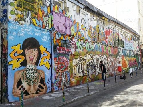 Street art Belleville, Paris - Map of Joy