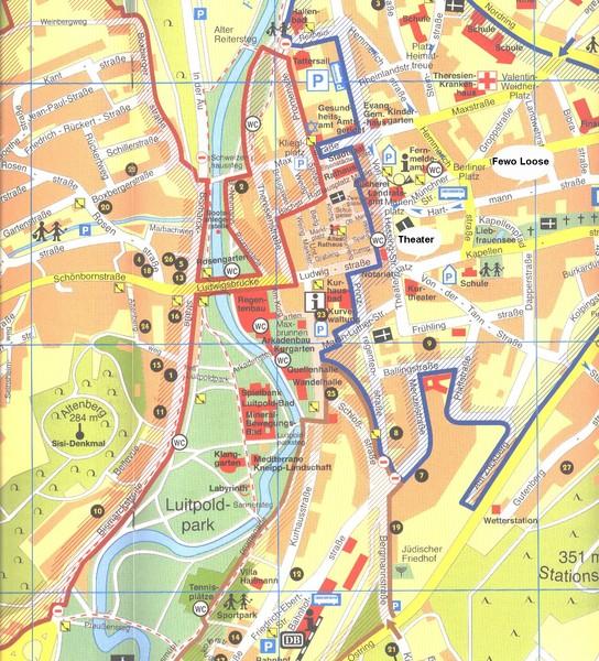 Bad Kissingen Tourist Map - Bad Kissingen Germany u2022 mappery - bad kissingen