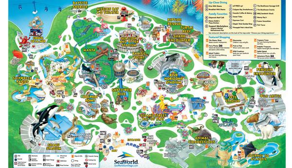 SeaWorld San Diego Theme Park Map - San Diego CA \u2022 mappery