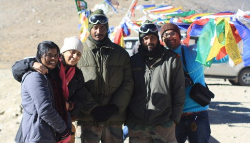 Celebrating 26th birthday with new found friends at Indo-Sino border