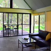 Tucked away among 100 acres of natural forest along Australia's South East coast, and located just over 1km from the sparkling waters of the Pacific Ocean lies, The Bower at Broulee; sleek and romantic cabins in an unspoiled forest setting.