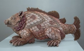 Bailey Henderson, Porcus Marinus, 2014. Bronze, 16″×8½″×7″.