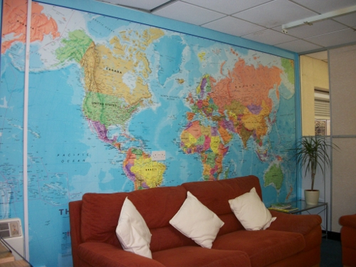 Map of the World Wallpaper in the Maps International Office \u2013 Maps
