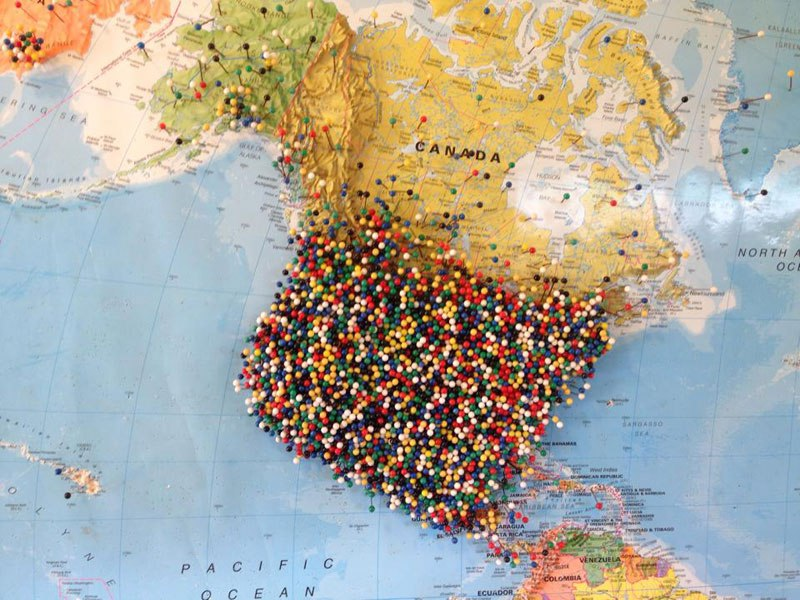 map of the world with pins - Goalgoodwinmetals - pins on a map