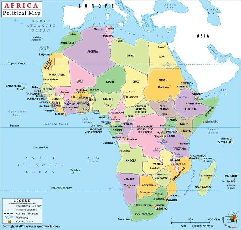 Political Map of Africa Africa Political Map