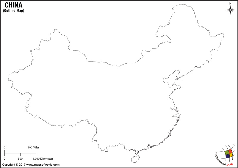 Blank Map of China China Outline Map